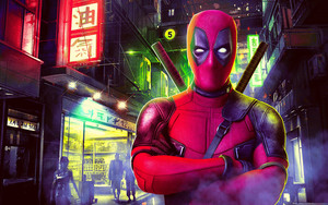 Preview wallpaper of Deadpool 2, Wade Wilson, City, Marvel