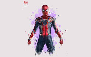 Смотреть обои Avengers Infinity War, Marvel, Comics, Spider-Man