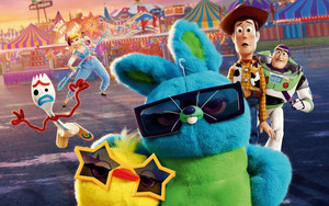 Preview wallpaper of Buzz Lightyear, Forky, Toy Story 4, Woody, Movie