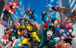 Смотреть обои Anime, All Hero, My Hero Academia