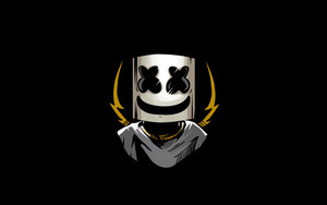 Preview wallpaper of marshmello, dark minimal