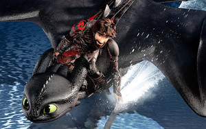 Смотреть обои Hiccup, How to Train Your Dragon 3, Toothless