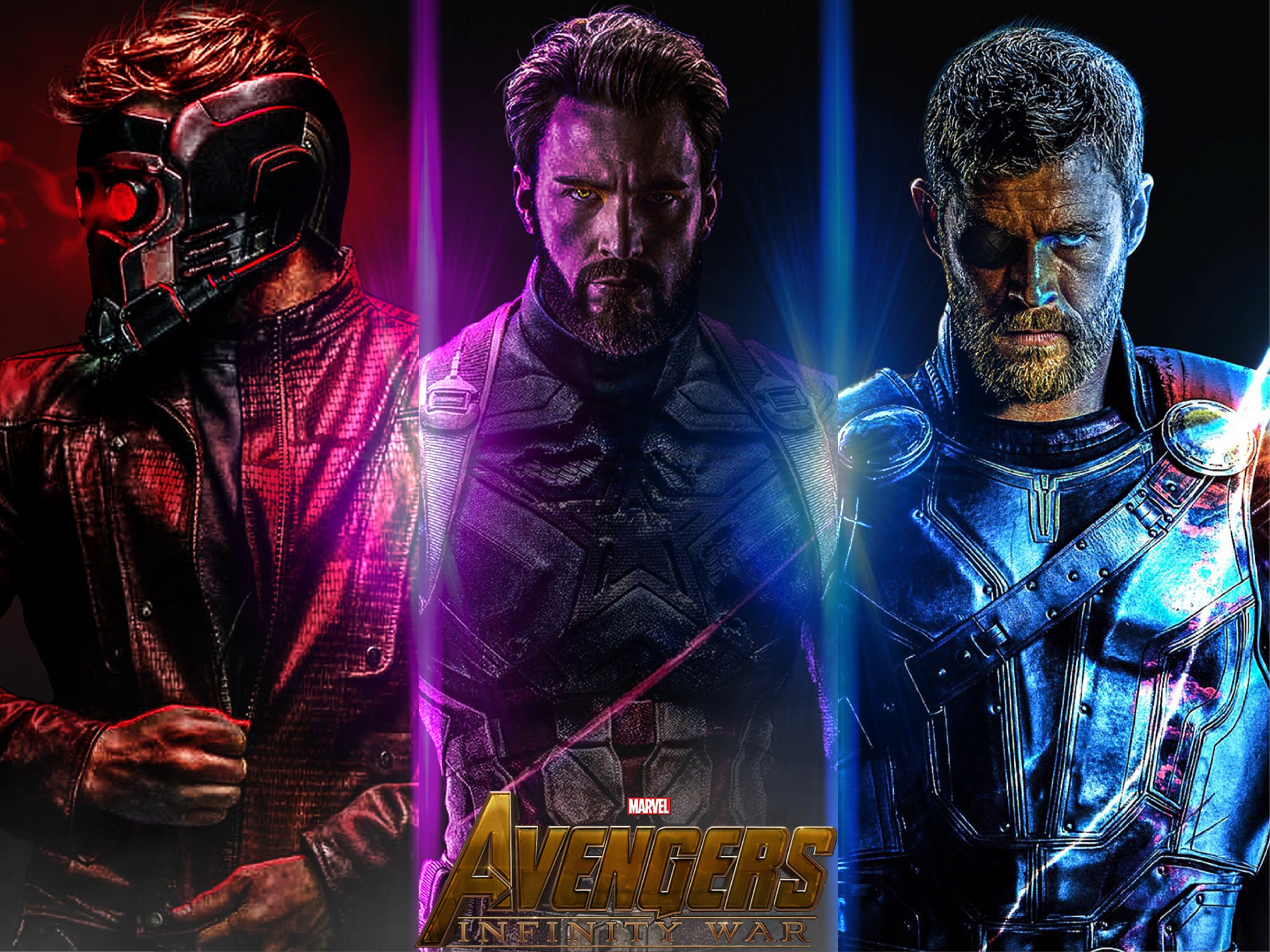 HD Wallpaper Avengers IW, Captain America, Star Lord, Thor