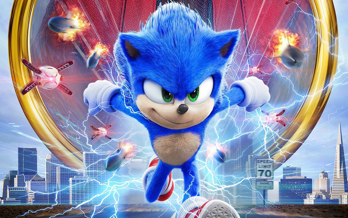wallpaper of sonic the hedgehog movie 2019 poster