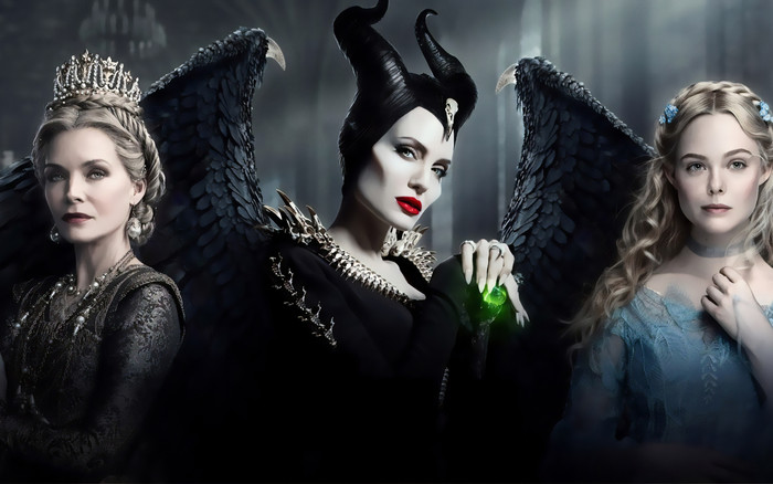 Wallpaper of Angelina Jolie, Elle Fanning, Maleficent, Michelle background & HD image