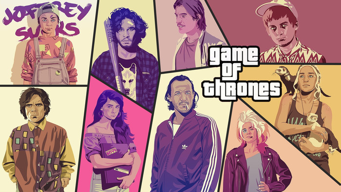 HD Wallpaper Art, Grand Theft Auto, Porody, Game of Thrones