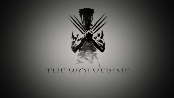 Образ the wolverine (росомаха) на сером фоне Wallpaper. Download Movies (Фильмы) HD desktop background image