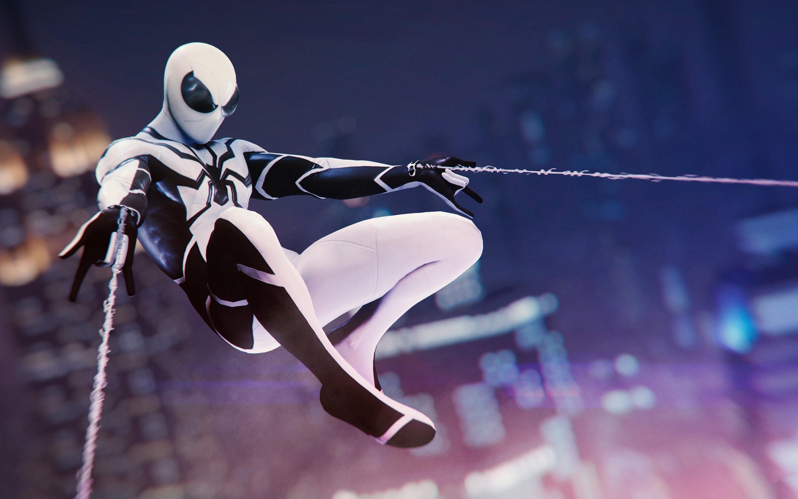 Wallpaper Of Spider Man Into The Spider Verse Marvel Movie