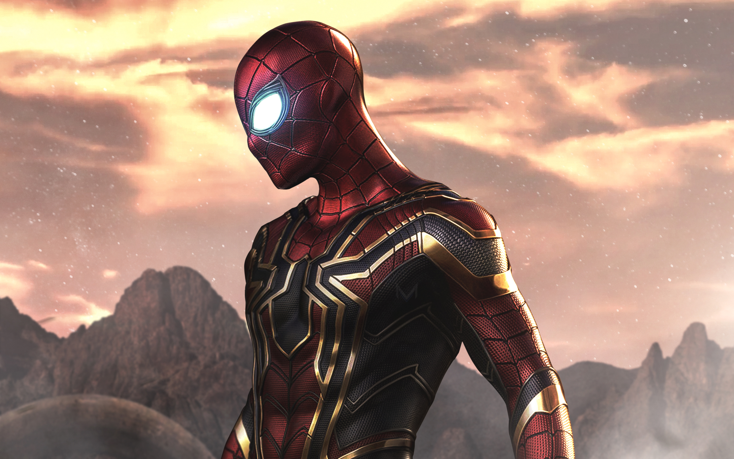 wallpaper avengers infinity war, iron spider, marvel comics desktop