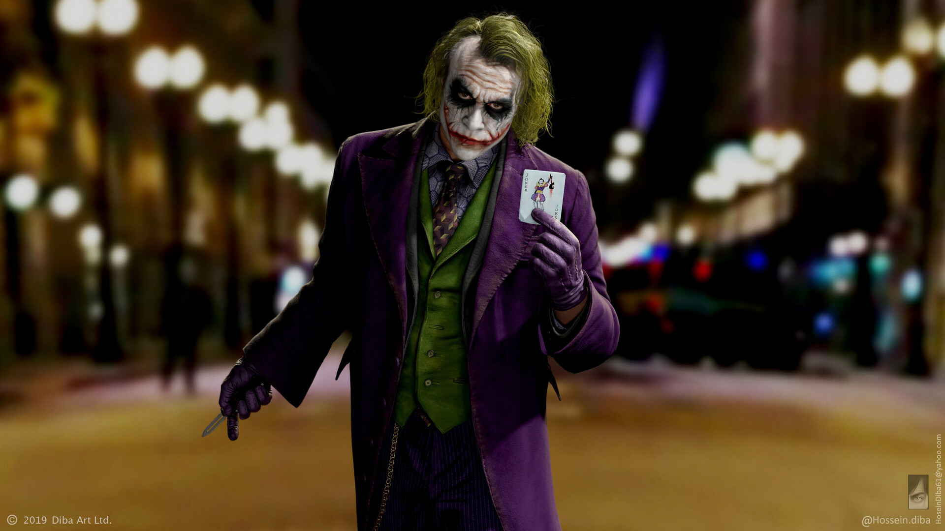 Wallpaper Of Heath Ledger Joker The Dark Knight Hossein