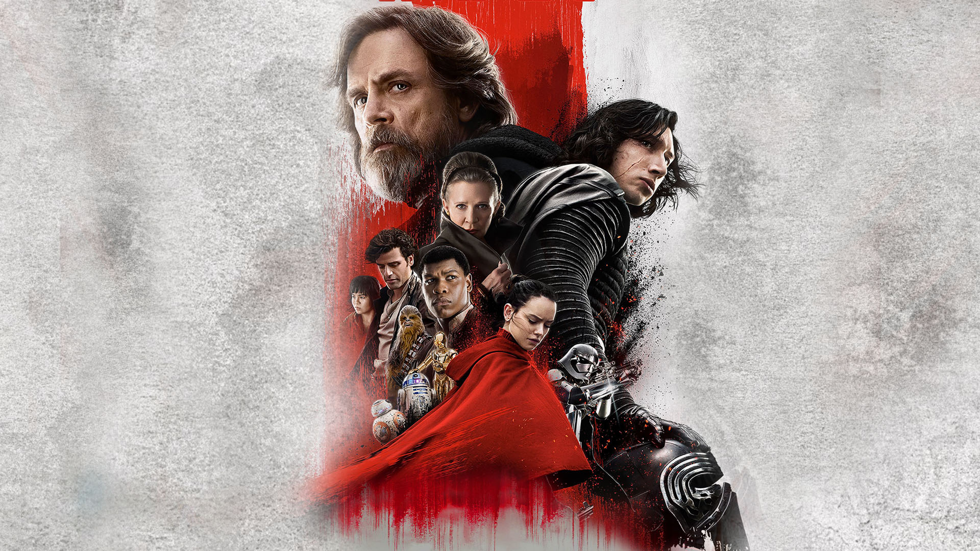 Wallpaper Of Star Wars The Last Jedi Actors Poster Background