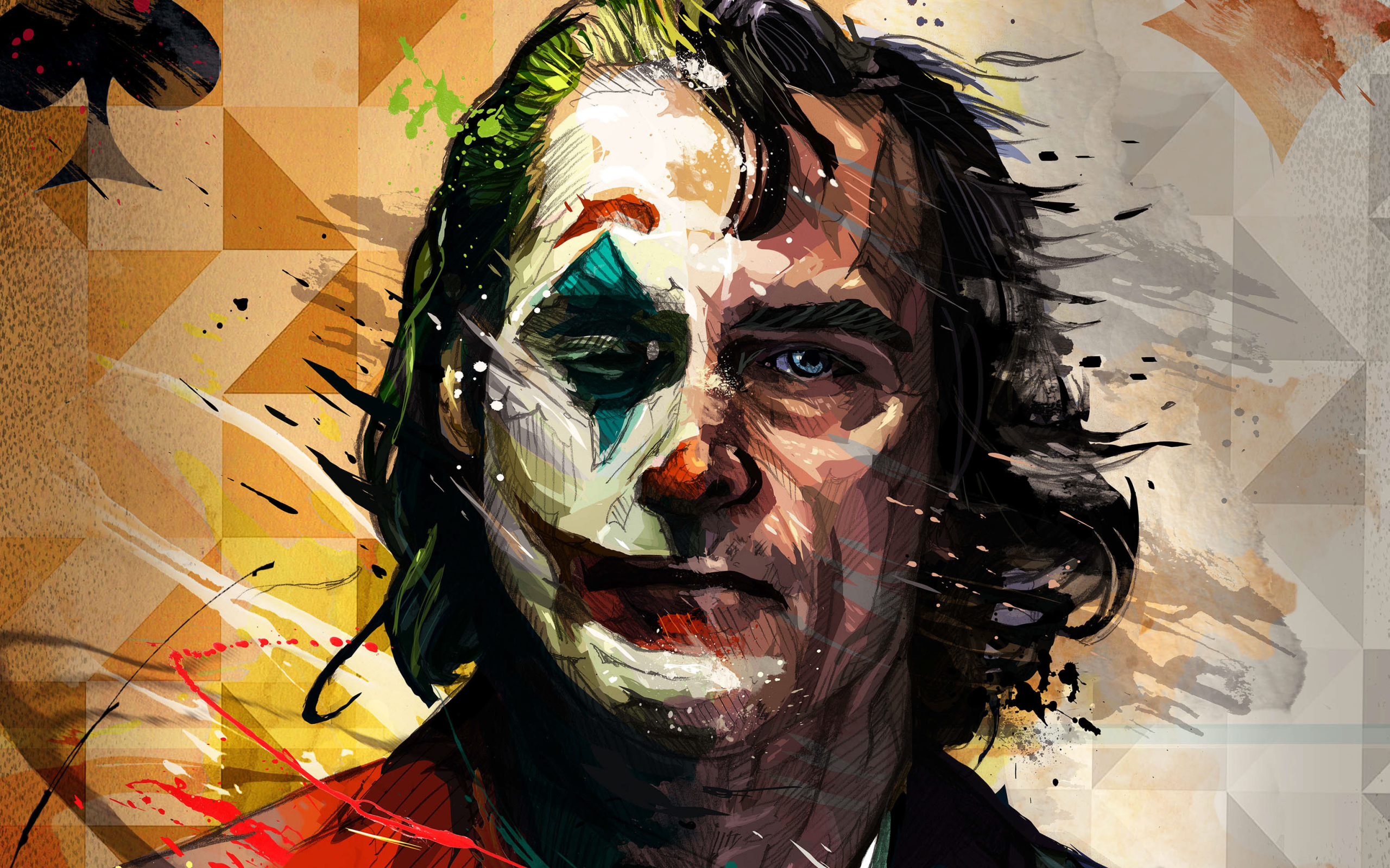 Wallpaper Of Movie Art Dc Comics Joaquin Phoenix Joker