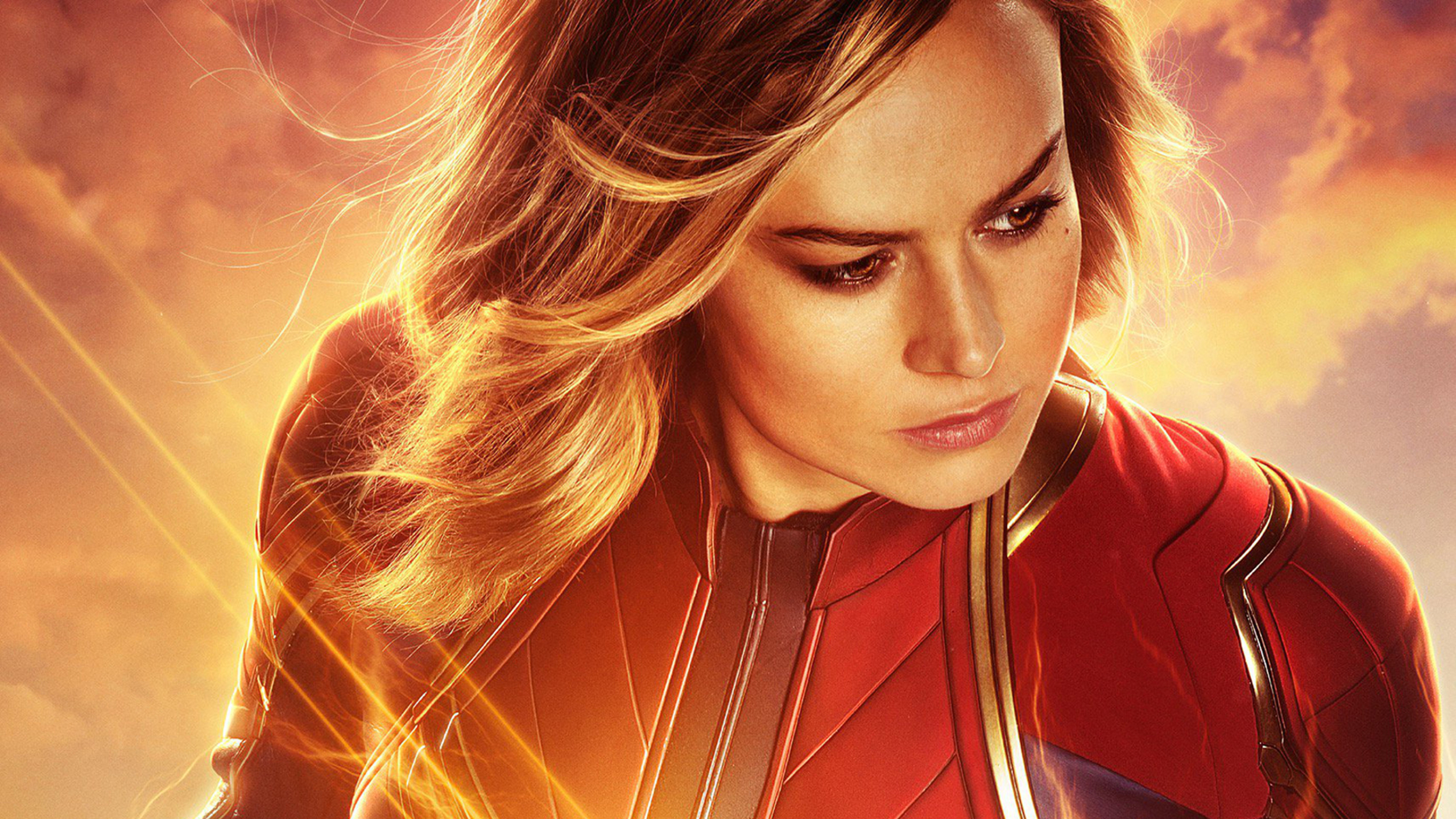 wallpaper brie larson brown eyes captain marvel desktop