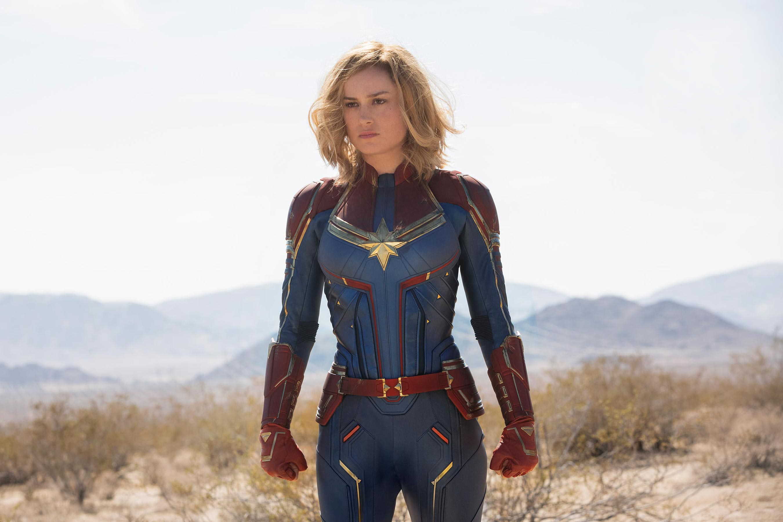 Wallpaper Brie Larson Captain Marvel Movie Marvel Desktop Picture
