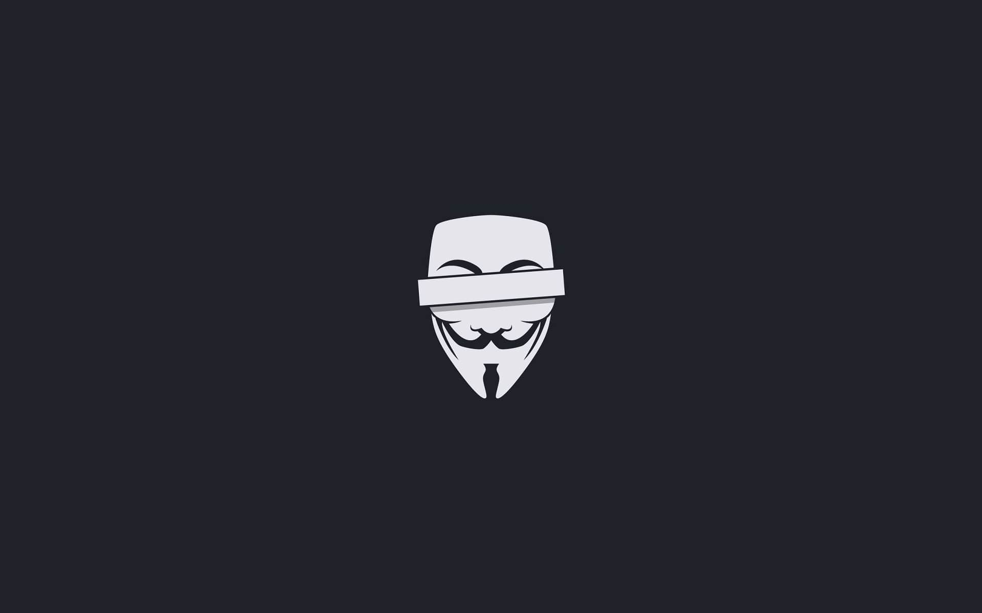 Wallpaper Of Mask V For Vendetta Movie Minimalism Background