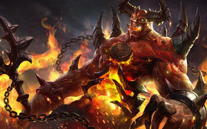 Preview wallpaper of Demon, Fantasy, Ifrit, Creature
