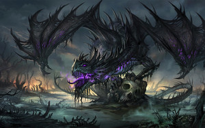 Preview wallpaper  Dragon, <b>Fantasy</b>, Skull