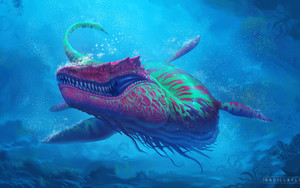 Preview wallpaper  <b>Fantasy</b>, Creature, Sea Monster, Underwater