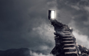 Preview wallpaper of Stairs, Surrealism, Dark