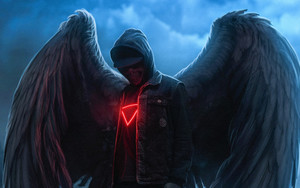 Preview wallpaper of Art, Angel, Dark, Fantasy, Wings