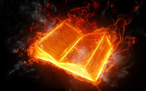 Preview wallpaper of Artistic, Fire, Book