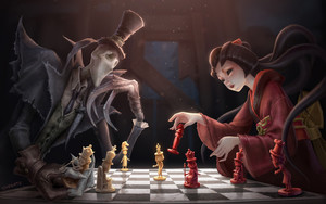 Preview wallpaper  <b>Fantasy</b>, Chess, Creature, Oriental
