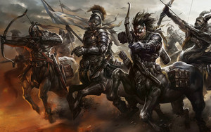 Preview wallpaper Archer, Bow, Centaur, Warrior, Fantasy