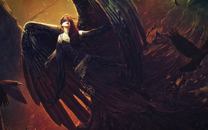 Preview wallpaper Angel, Dark Angel, Fantasy, Wings
