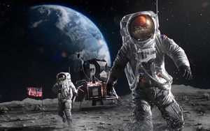 Preview wallpaper Astronaut, Space, Art, Fantasy