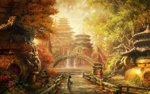 Preview wallpaper of blade and soul, art, park, china