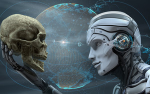 Preview wallpaper of Sci-Fi, Robot, Skull