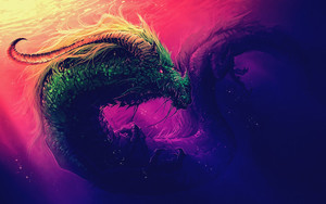 Preview wallpaper  Dragon, <b>Fantasy</b>, Underwater, Water