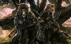 Preview wallpaper of Animal, Fantasy, Warrior, Weapon