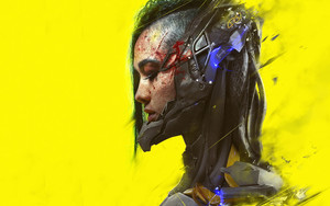Preview wallpaper Cyberpunk, Cyborg, Face, Girl