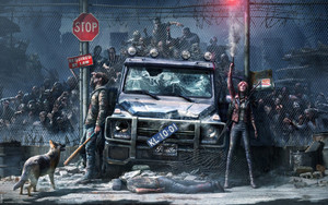 Preview wallpaper of Dark, Zombie, Art, Dog, Mercedes Benz
