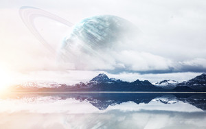 Preview wallpaper Photography, Manipulation, Fantasy, Mountains