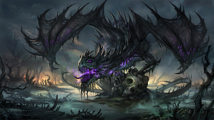 HD Wallpaper of Dragon, Fantasy, Skull