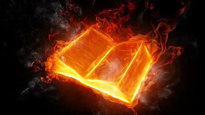 HD Wallpaper of Artistic, Fire, Book
