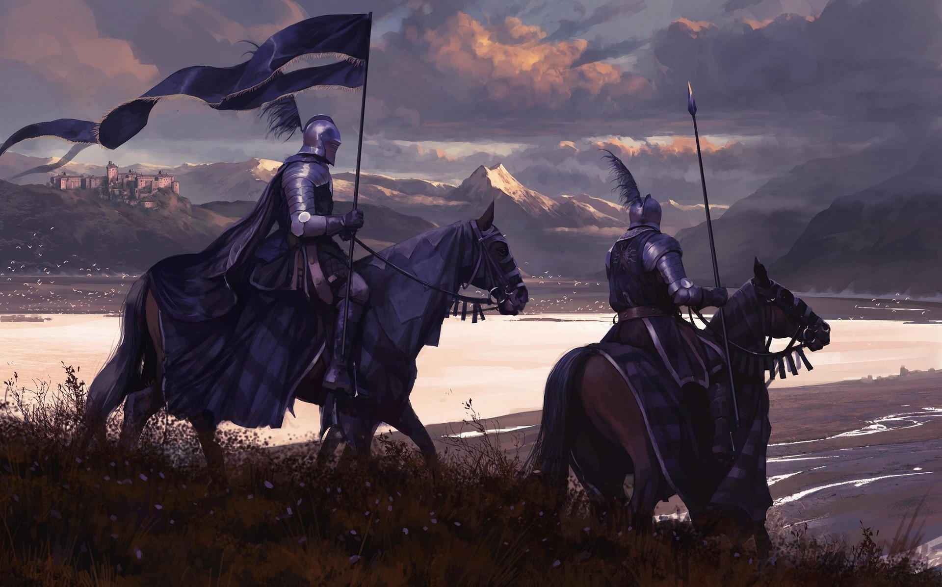 Wallpaper of Armor, Banner, Horse, Knight, Warrior background & HD image  Knight