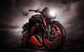 Смотреть обои triumph speed tripple bulldog, bike, триумф, мото