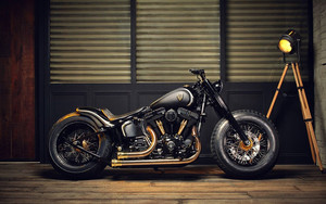 Смотреть обои Custom, Motorcycle, Motorcycle, Vehicle, Black