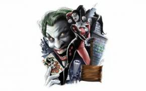 Смотреть обои Harley Quinn, Joker, Batman, DC Comics, Харли Квин