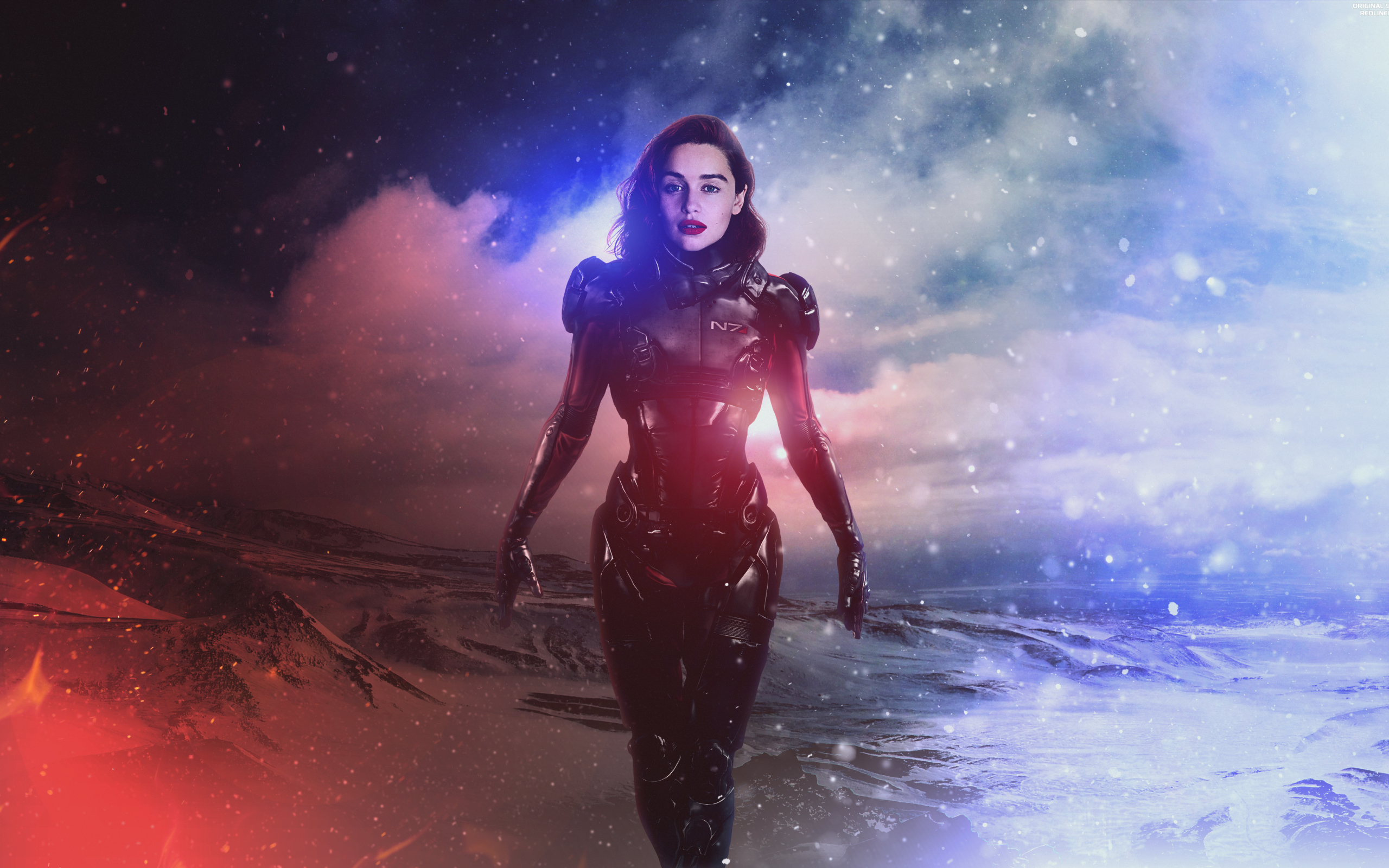 Wallpaper Of Emilia Clarke Fan Art Mass Effect Andromeda