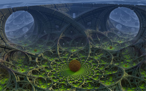 Preview wallpaper  <b>Abstract</b>, Fractal, Mandelbulb, Sphere