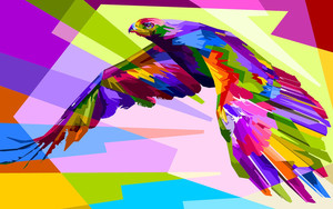 Смотреть обои Artistic, Bird, Colorful, Colors, Eagle, Geometry