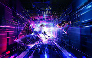 Preview wallpaper of Abstract, Astronaut, 3D