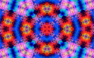 Preview wallpaper Abstract, Colors, Digital Art, Kaleidoscope