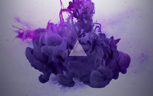 Смотреть обои Art, Digital, Paint-In-Water, Purple, Red, Smoke