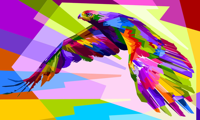HD Wallpaper of Artistic, Bird, Colorful, Colors, Eagle, Geometry