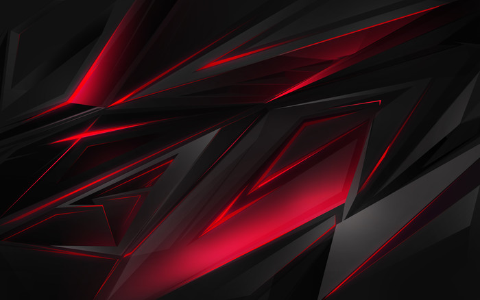 HD Wallpaper of Abstract, Black, Colors, Fractal, Lines, Red